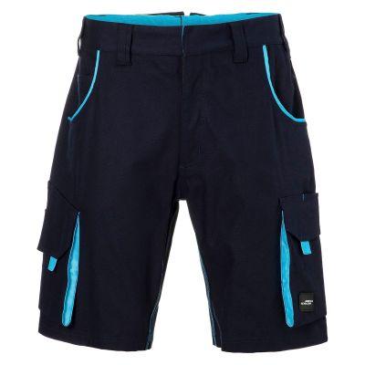 Pantaloni leggeri in canvas colore NAVY-TURCHESE