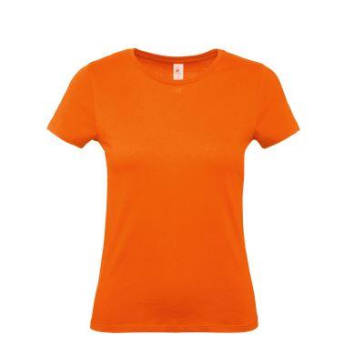 T-shirt girocollo lavoro donna colore arancio