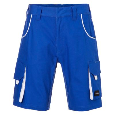 Pantaloni leggeri in canvas colore ROYAL-BIANCO