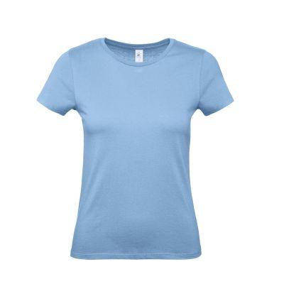T-shirt girocollo lavoro donna colore sky blu