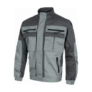 Giacca bicolore grigio scuro-grigio