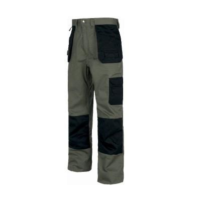 Pantalone con fondo dritto colore verde-nero