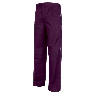 Pantalone unisex colore viola-bianco