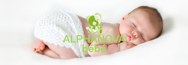 Soins naturels pour bébé certifiés bio. Formules hypoallergéniques, testés sous contrôle dermatologique. Alphanova Bébé.