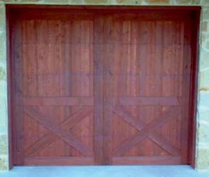 Wood Garage Door 6