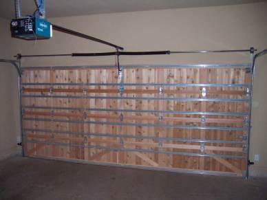 Wood Garage Door Interior