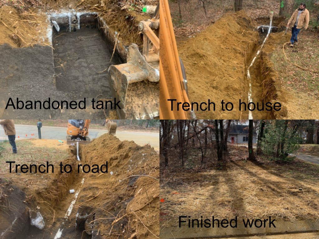 New Sewer Service Installation - Arnold