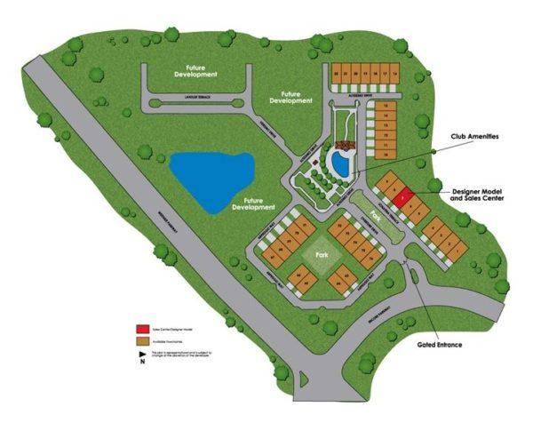 Site Plan Overture At Encore Neighborhood