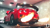 Nissan GTR Insane Flames