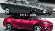 Toyota Corolla Evolution from 1969 to 2018