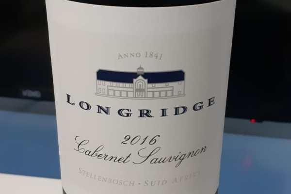 Tasting Note Longridge Cabernet Sauvignon 2016