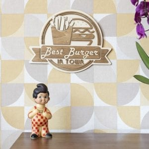 Best Burger in Town – Décoration murale en bois
