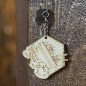 porte clé bois keychain retro vintage japon ramen nouilles food