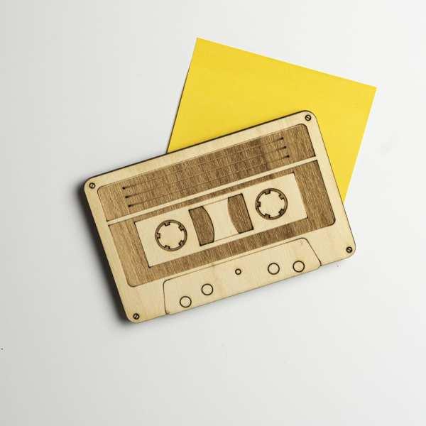 magnet bois décoration 80's 90's cassette audio musique retro vintage