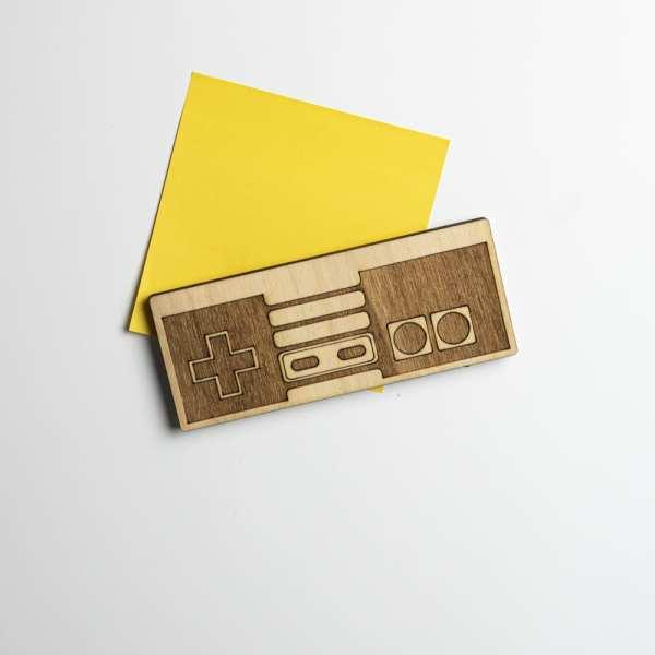 magnet bois retro gaming décoration nes geek jeux vidéos