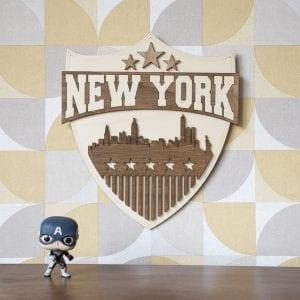 New York – Décoration murale en bois