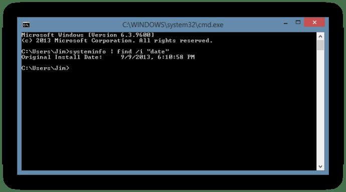 Windows Installation Date Systeminfo