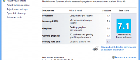 Farewell to the Windows Experience Index