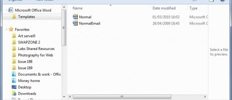 How to change the default template in Word 2007