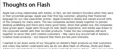 Apple v Adobe: some lessons from history