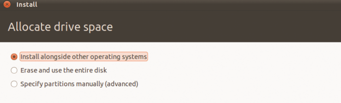 How to install Ubuntu from a USB: step four