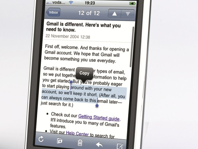 copiar y pegar iPhone