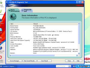 Toshiba PC Diagnostics Tool