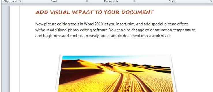 Word Photo Editing