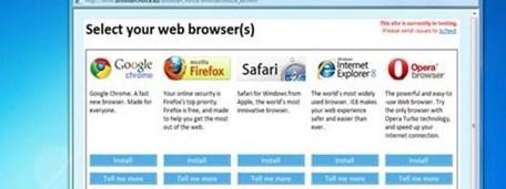 Windows browser ballot