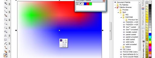 CorelDRAW Graphics Suite X5 colour handling