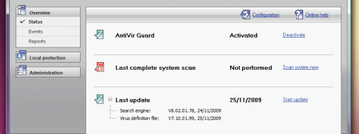 The simple Avira interface is easy to get around.