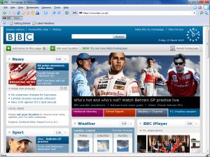 K-Meleon BBC homepage