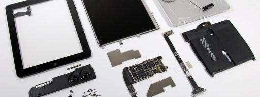 Apple iPad in pieces