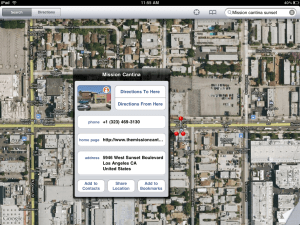 Apple iPad Maps app
