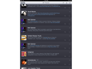 Apple iPad Twitterific app
