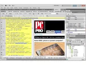 Adobe Dreamweaver Live View