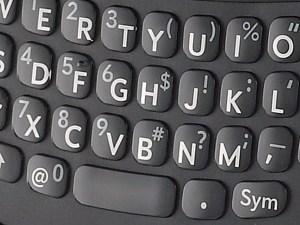 Palm Pre Plus keyboard