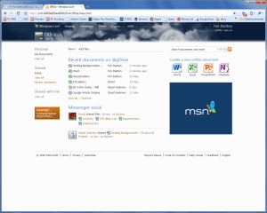 SkyDrive and Web Apps