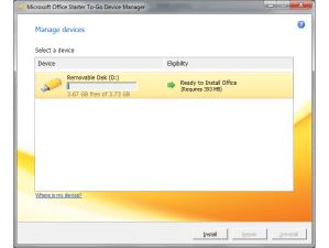 Installing Office Starter-To-Go