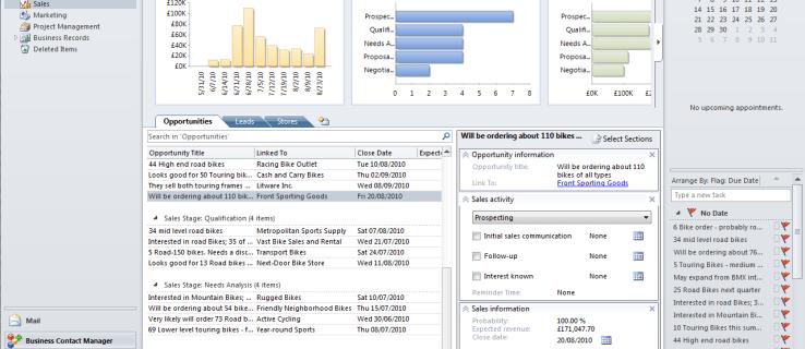 Revisión de Microsoft Business Contact Manager 2010