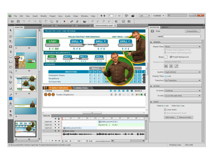 Adobe Captivate 5 interface
