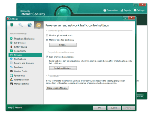 Kaspersky Internet Security 2011 offers an extensive range of configurable options, including some quite technical settings