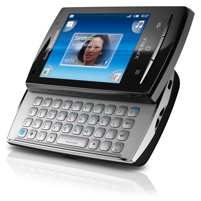 Sony Ericsson Xperia X10 Mini Pro keyboard view
