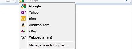 Bing in Firefox
