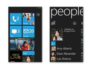 Microsoft Windows Phone 7 - Start Screen and People Hub