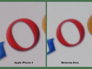 Motorola Atrix - resolution close-up