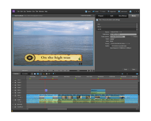 Adobe Premiere Elements 10 -export