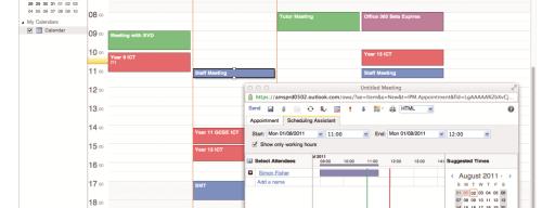 Outlook Calendar in Office 365