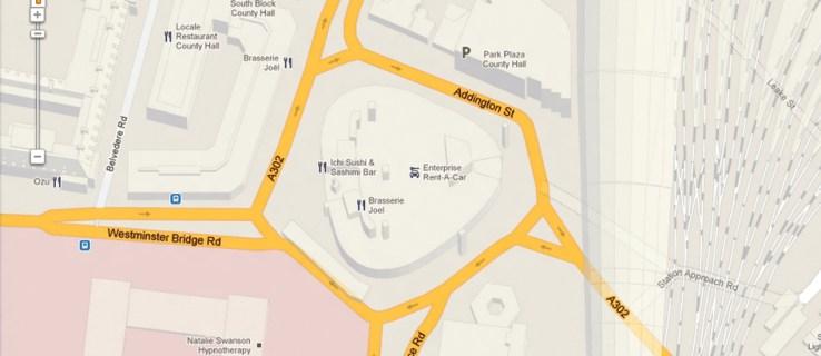 Satnav maps: spot the difference
