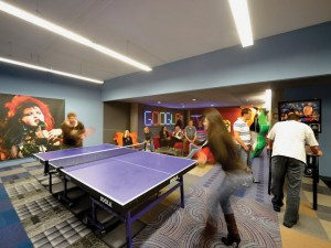 Google offices ping pong